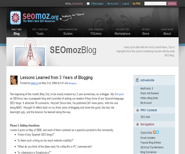  Lessons Learned from 3 Years of Blogging