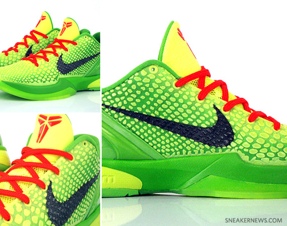 Nike Zoom Kobe VI Christmas Lime Green Varsity Red New Photo Release