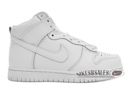 Nike Womens Dunk High SB All White