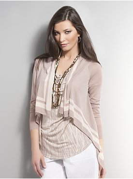 Womens Open Cardigan Sweater