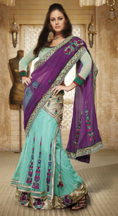 festive wear lehenga saree