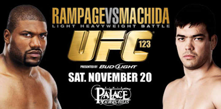 Watch UFC 123 Rampage vs. Machida Live Stream Fight Online