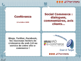 Conférence social commerce et marketing participatif au salon VAD e-commerce